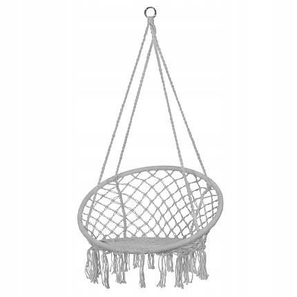 Підвісне крісло-гойдалка (плетене) Springos SPR0011 Grey, фото 2