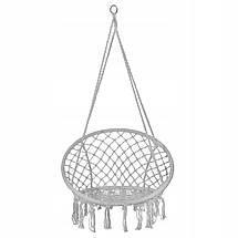 Підвісне крісло-гойдалка (плетене) Springos SPR0011 Grey, фото 3