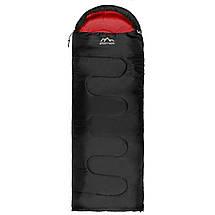 Спальный мешок (спальник) одеяло SportVida SV-CC0064 +2 ...+ 21°C L Black/Red, фото 3