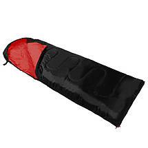 Спальный мешок (спальник) одеяло SportVida SV-CC0064 +2 ...+ 21°C L Black/Red, фото 2