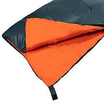 Спальний мішок (спальник) ковдра SportVida SV-CC0061 +2 ...+ 21°C R Navy Green/Orange, фото 3