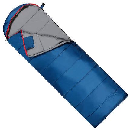 Спальний мішок (спальник) ковдра SportVida SV-CC0071 -3 ...+ 21°C L Blue/Grey, фото 2
