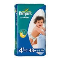 Подгузники Pampers Active baby р.4+ 9-20кг 45шт