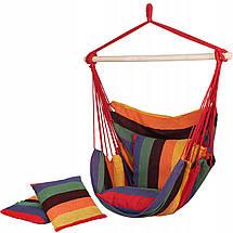 Крісло-гамак сидячий (бразильський) з подушками Springos 130 x 100 см HM047, фото 2