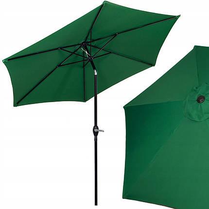 Зонт садовый стоячий (для террасы, пляжа) с наклоном Springos 250 см GU0014, фото 2