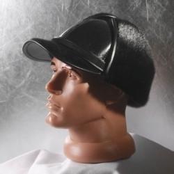 Мужская меховая шапка Жокейка из нерпы