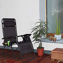Шезлонг (кресло-лежак) для пляжа, террасы и сада Springos Zero Gravity GC0009, фото 2