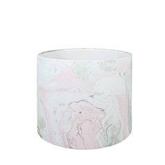 Капелюшна коробка 16х14 см Мармур рожевий