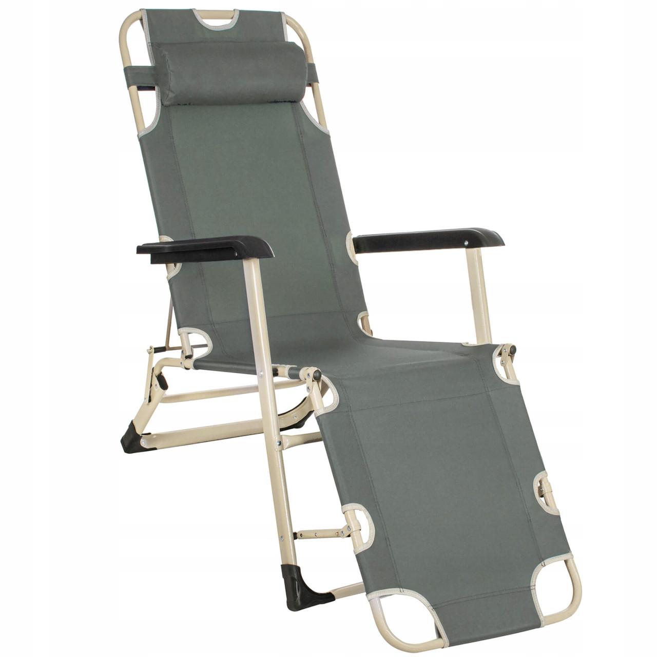 Шезлонг (крісло-лежак) для пляжу, тераси і саду Springos Zero Gravity GC0036