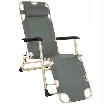 Шезлонг (крісло-лежак) для пляжу, тераси і саду Springos Zero Gravity GC0036, фото 2