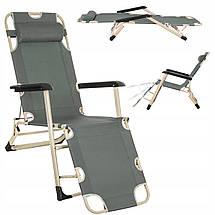 Шезлонг (крісло-лежак) для пляжу, тераси і саду Springos Zero Gravity GC0036, фото 3