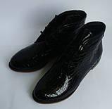 Жіночі лакові черевики на шнурках, фото 2