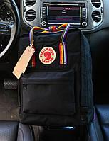 Рюкзак Kanken Classic Black rainbow 16 літрів портфель канкен класік чорний, фото 1
