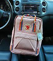 Рюкзак Kanken Classic pink rainbow 16 літрів портфель канкен класік рожевий, фото 1