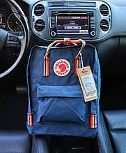 Рюкзак Kanken Classic dark turquoise rainbow 16 литров портфель канкен класик темно-бирюзовый