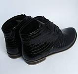 Жіночі лакові черевики на шнурках, фото 3