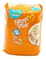 Подгузники Pampers Sleep&Play Mini 2, 3-6 кг, 18 шт