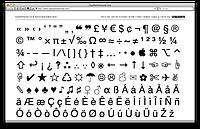 Спецзнаки, а так же таблица символов на клавиатуре ПК для документов и роботы с документами.