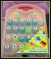 Набор фигурных дыроколов 1 см кнопка 26 штук