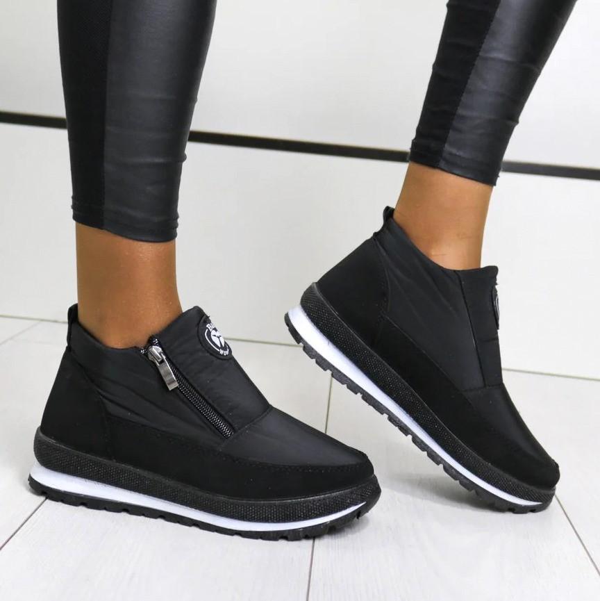 Женские ботинки зимние - кроссовки на меху (Бт-5ч-3)