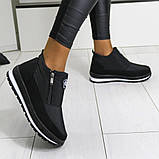Женские ботинки зимние - кроссовки на меху (Бт-5ч-3), фото 3