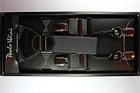 Подтяжки кожаные 'Topgal EXCLUSIVE' серые