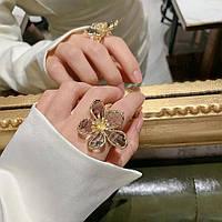 Эффектное кольцо Цветок дымчатый