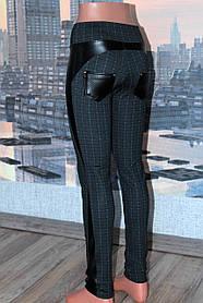 Спідниці - брюки жіночі з вставками з шкірозамінника, р 42,44