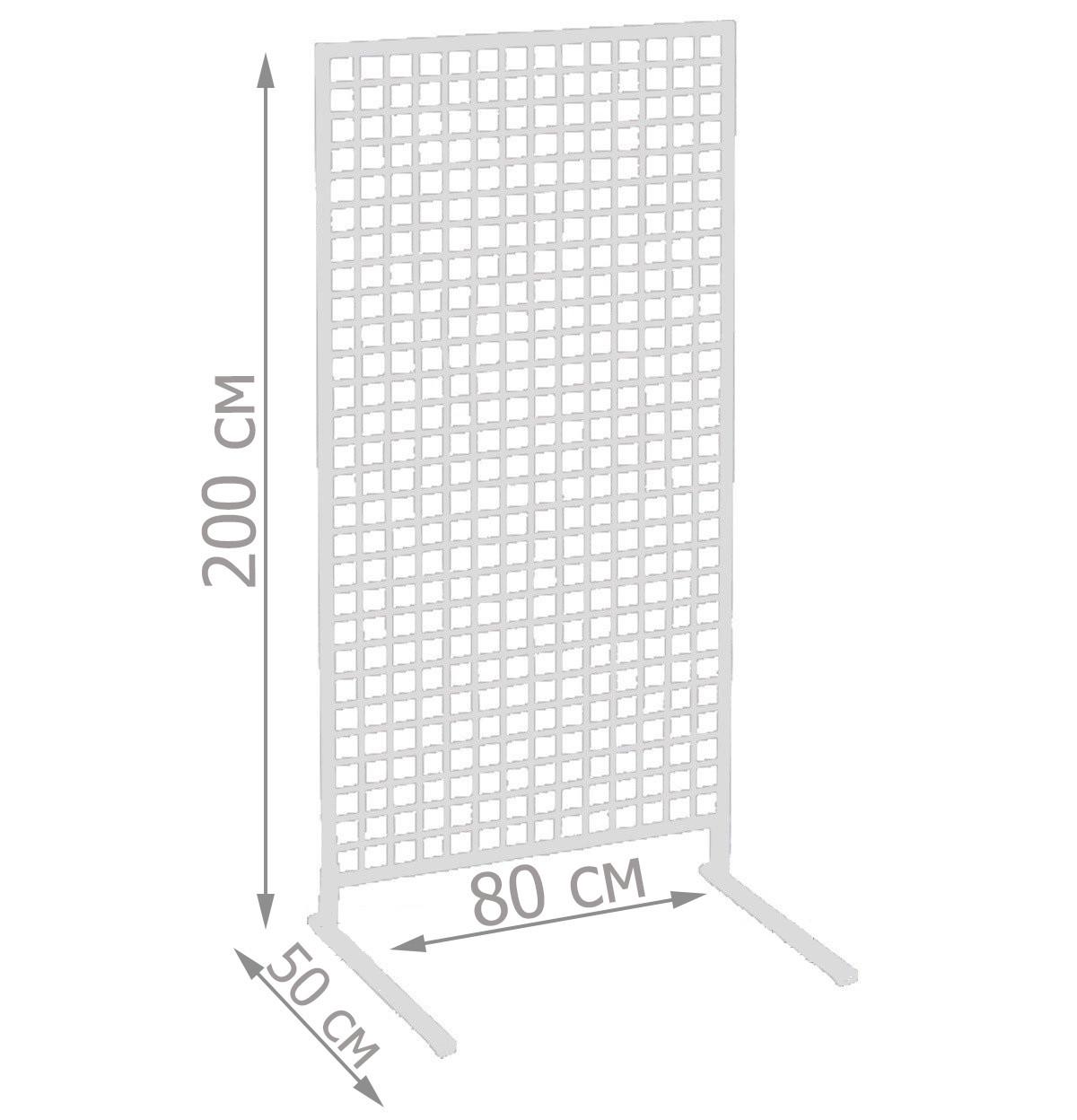 Торговая сетка стойка на ножках 200/80см профиль17х17 мм (от производителя оптом и в розницу)