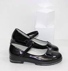 Туфли на девочку черного цвета (31-37 рр.)