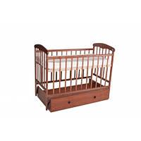 Манеж-кроватка «Наталка» с маятником и ламинированным ящиком (ясень темный)