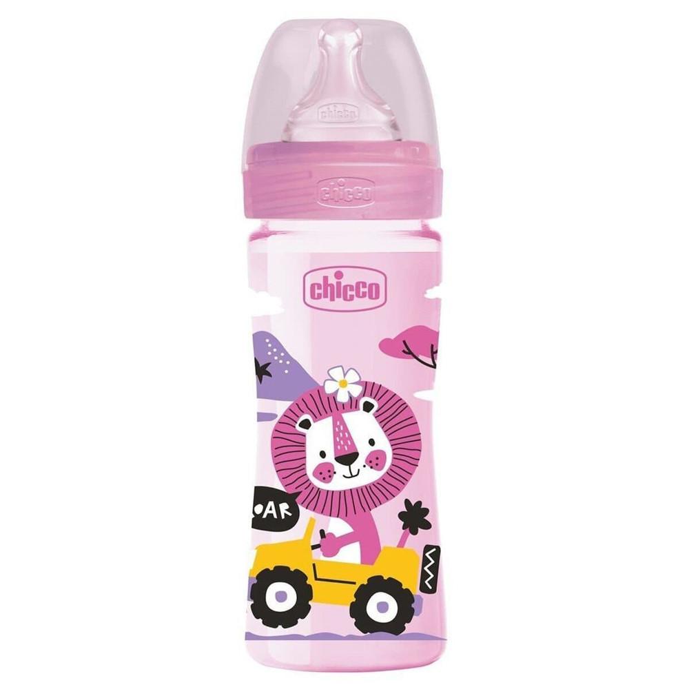 Бутылочка пластиковая 250 мл Chicco Well-Being Physio Colors 2m+ (8058664129461)