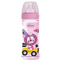 Бутылочка пластиковая 250 мл Chicco Well-Being Physio Colors 2m+ (8058664129461), фото 1
