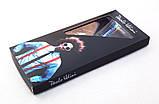 Мужские черные подтяжки Paolo Udini с бордовым узором, фото 2