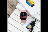 Смарт годинник Фітнес браслет трэккер Smart Watch NK03 пульсометром тонометром IP67 чорні + Подарунок, фото 2
