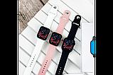 Смарт годинник Фітнес браслет трэккер Smart Watch NK03 пульсометром тонометром IP67 чорні + Подарунок, фото 4
