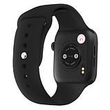 Смарт годинник Фітнес браслет трэккер Smart Watch NK03 пульсометром тонометром IP67 чорні + Подарунок, фото 6