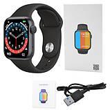 Смарт годинник Фітнес браслет трэккер Smart Watch NK03 пульсометром тонометром IP67 чорні + Подарунок, фото 7