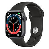 Смарт годинник Фітнес браслет трэккер Smart Watch NK03 пульсометром тонометром IP67 чорні + Подарунок, фото 8