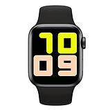Смарт годинник Фітнес браслет трэккер Smart Watch NK03 пульсометром тонометром IP67 чорні + Подарунок, фото 9