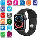Смарт годинник Фітнес браслет трэккер Smart Watch NK03 пульсометром тонометром IP67 чорні + Подарунок, фото 10