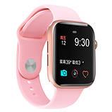 Смарт годинник Фітнес браслет трэккер Apl Watch M44 пульсометром тонометром магнітна зарядка рожеві + Подарунок, фото 7