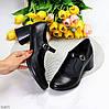 Чорні шкіряні жіночі туфлі натуральна шкіра на зручному каблуці класика, фото 7