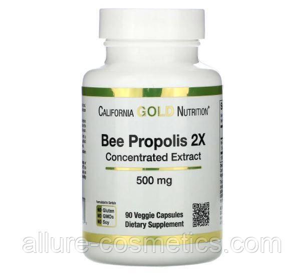 Прополис 2X концентрированный экстракт California Gold Nutrition 500 мг