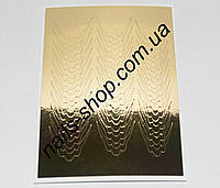 Металлизированная наклейка №5 золото (33 шт)