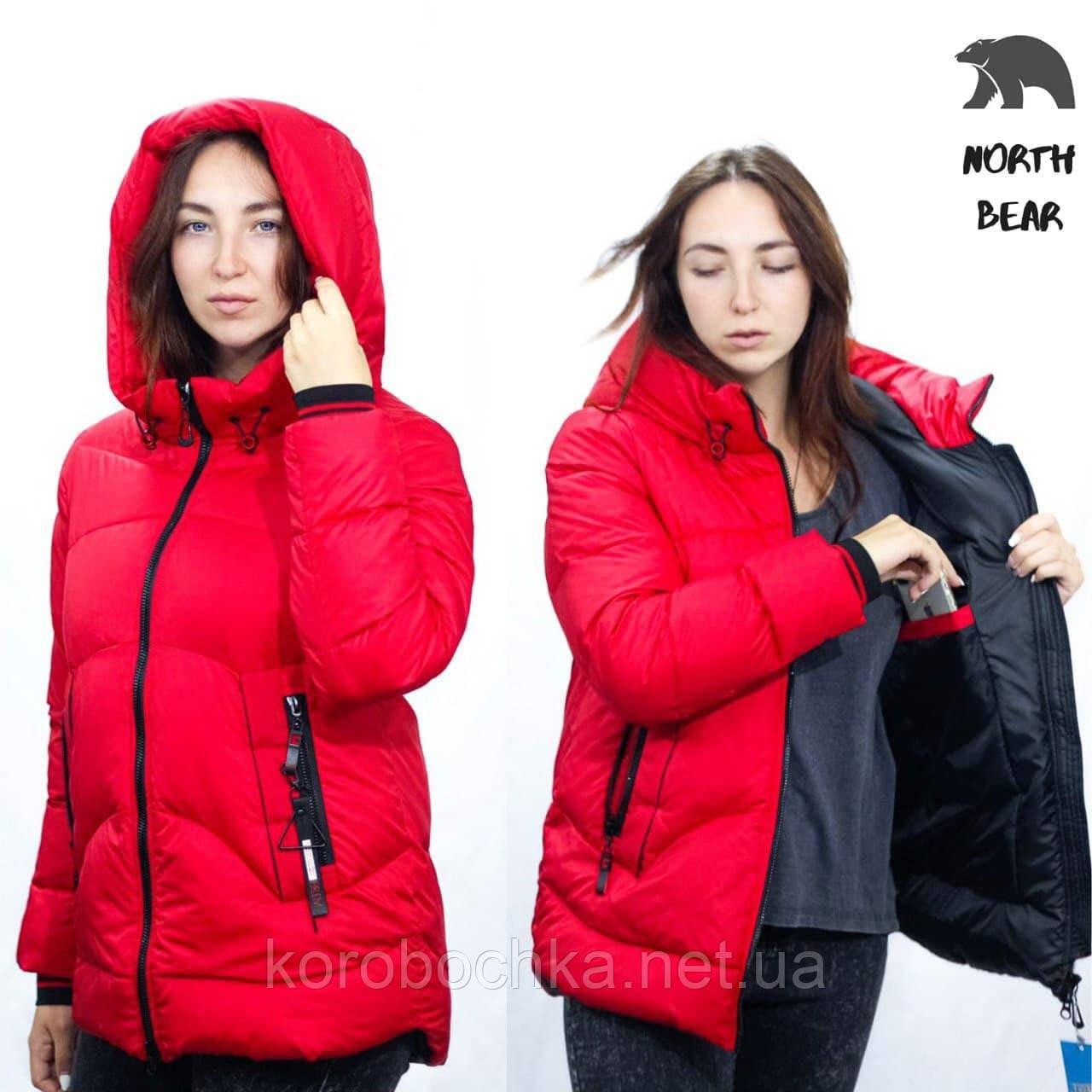 Жіноча зимова куртка з капюшоном