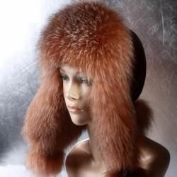 Жіноча хутрова шапка Вушанка з фроста танированый