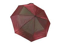 Якісний зонт жіночий напівавтомат поліестер/карбон бордовий (в шести кольорах) Арт.311 Mario (Китай)
