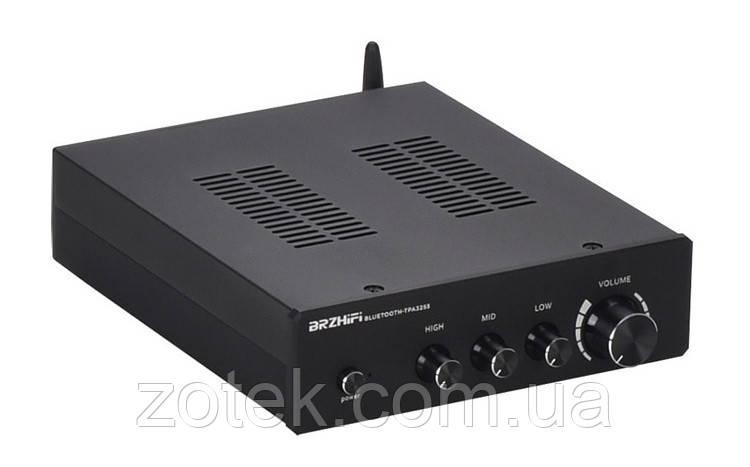 Усилитель звука BRZHIFI 2.1 TPA3255 *2шт. Bluetooth 150Вт*2 + 300Вт QCC3034 aptx-HD 220V в чёрном корпусе