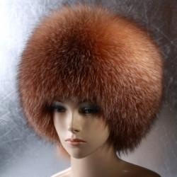 Женская меховая шапка Шарик из фроста